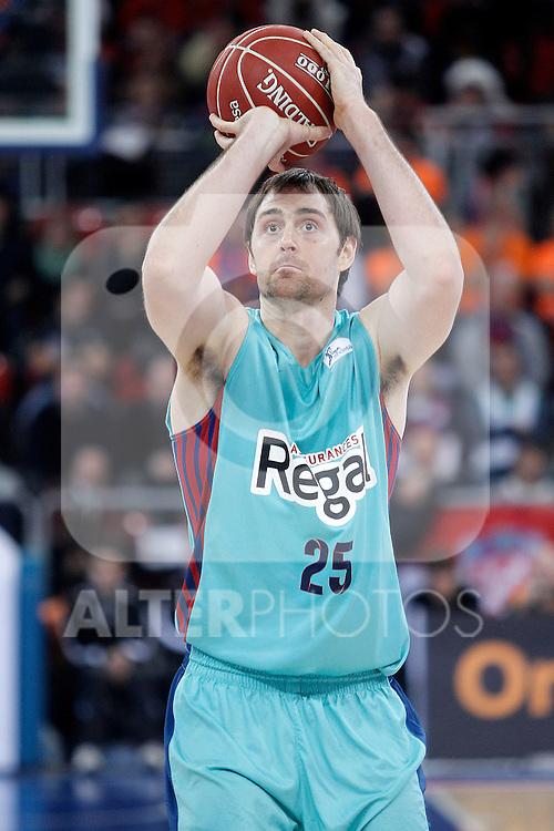 FC Barcelona Regal's Erazem Lorbek during Spanish Basketball King's Cup semifinal match.February 07,2013. (ALTERPHOTOS/Acero)
