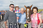 The owners of Close Encounters who ran in the Rossbeigh races on Sunday l-r: Philip, Amelia, Kevin and Mary McGillicuddy from Dooks, Glenbeigh..
