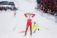 Holmenkollen, 20110224. Sprint, finalen. Marit Bjørgen vinner gull. Foto: Eirik Helland Urke / Dagbladet