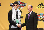 13 January 2011: Vancouver Whitecaps selected Omar Salgado with the #1 pick in the draft. With Commissioner Don Garber (right). The 2011 MLS SuperDraft was held in the Ballroom at Baltimore Convention Center in Baltimore, MD during the NSCAA Annual Convention.