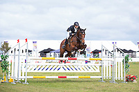NZL-Nick Brooks (STRIKING) CIC1* SHOWJUMPING: 2015 NZL-Kihikihi International Horse Trial (Sunday 12 April) CREDIT: Libby Law COPYRIGHT: LIBBY LAW PHOTOGRAPHY