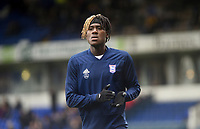 Ipswich Town's Trevoh Chalobah during the pre-match warm-up <br /> <br /> Photographer Hannah Fountain/CameraSport<br /> <br /> The EFL Sky Bet Championship - Ipswich Town v Nottingham Forest - Saturday 16th March 2019 - Portman Road - Ipswich<br /> <br /> World Copyright &copy; 2019 CameraSport. All rights reserved. 43 Linden Ave. Countesthorpe. Leicester. England. LE8 5PG - Tel: +44 (0) 116 277 4147 - admin@camerasport.com - www.camerasport.com