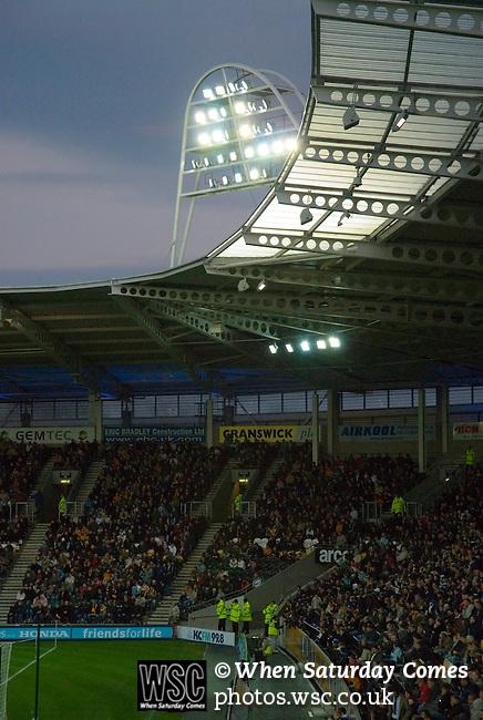 Hull City 3 Preston North End 0, 10/11/2007. KC Stadium, Championship. twilight at the KC Stadium. Photo by Paul Thompson.