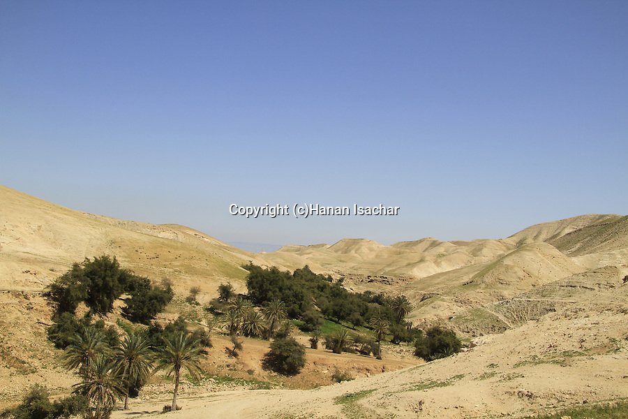 Judean desert, a view of Wadi Qelt