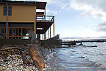 Global Warming, King Tide, Highest tides of the year, Shorelines at risk, Port Townsend, Jefferson County, Olympic Peninsula, Washington State, Pacific Northwest, USA,