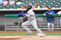 Jackson Generals designated hitter Leon Landry (6) swings at a pitch during a game against the Tennessee Smokies at Smokies Stadium on July 5, 2016 in Kodak, Tennessee. The Generals defeated the Smokies 6-4. (Tony Farlow/Four Seam Images)