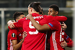 Manchester United's Henrikh Mkhitaryan celebrates scoring during the Europa League Quarter Final 1st leg match at RSCA Constant Vanden Stock Stadium, Anderlecht, Belgium. Picture date: April 13th, 2017.Pic credit should read: Charlie Forgham-Bailey/Sportimage