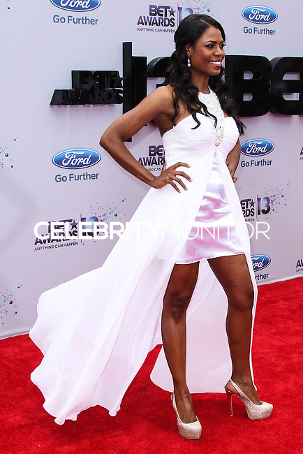 LOS ANGELES, CA - JUNE 30: Omarosa Manigault attends the 2013 BET Awards at Nokia Theatre L.A. Live on June 30, 2013 in Los Angeles, California. (Photo by Celebrity Monitor)