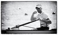 Brandenburg. GERMANY.<br /> GBR M8+. Will SATCH  at the start for their heat. 2016 European Rowing Championships at the Regattastrecke Beetzsee<br /> <br /> Friday  06/05/2016<br /> <br /> [Mandatory Credit; Peter SPURRIER/Intersport-images]