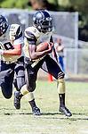 Palos Verdes, CA 09/13/13 - Tobi Ibraheem (Peninsula #5) in action during the Culver City vs Palos Verdes Peninsula High School Varsity Football game at Palos Verdes Peninsula HIgh School.