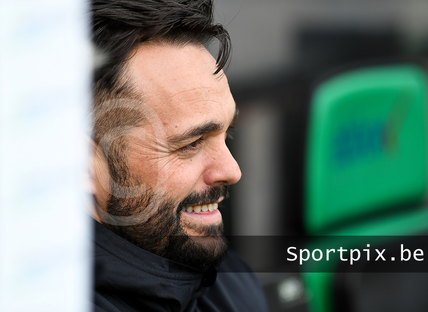 20191211 – OOSTENDE , BELGIUM : head coach Daniel Poyatos Algaba of Real Madrid pictured during a soccer game between Club Brugge KV and Real Madrid on the sixth and last matchday in group A of the UEFA Youth League - Champions League season 2019-2020 , thuesday 11 th December 2019 at the Versluys Arena in Oostende , Belgium . PHOTO SPORTPIX.BE   DAVID CATRY