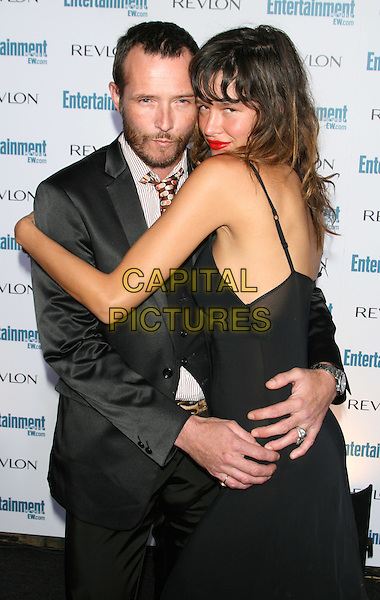 SCOTT WEILAND & PAZ DE LA HUERTA.6th Annual Entertainment Weekly Pre-Emmy Awards Party.at the Beverly Hills Post Office, Beverly .Hills, CA, USA, September 20th 2008..half length hugging black dress tie suit .CAP/LNC/TOM.©LNC/Capital Pictures