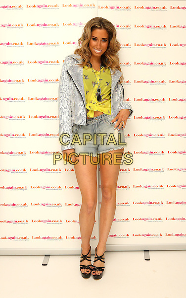 LONDON, ENGLAND - FEBRUARY 26: Stacey Solomon attends a photocall as she's announced as the face of Lookagain.co.uk at Vanilla on February 26, 2014 in London, England.<br /> CAP/PLF<br /> Supplied by Capital Pictures