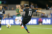 San Jose, CA - Saturday September 30, 2017:  during a Major League Soccer (MLS) match between the San Jose Earthquakes and the Portland Timbers at Avaya Stadium.
