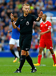 Referee Michael Jones during the pre season friendly match at Goodison Park Stadium, Liverpool. Picture date 6th August 2017. Picture credit should read: Paul Thomas/Sportimage