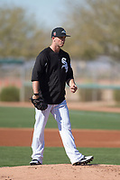 Chicago White Sox pitcher Ian Clarkin (64) during Spring Training Camp on February 25, 2018 at Camelback Ranch in Glendale, Arizona. (Zachary Lucy/Four Seam Images)