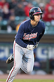 Gwinnett Braves second baseman Ed Lucas #12 at bat during a game against the Rochester Red Wings at Frontier Field on May 5, 2011 in Rochester, New York.  Rochester defeated Gwinnett by the score of 3-2.  Photo By Mike Janes/Four Seam Images
