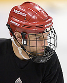 Davis Drewiske - The University of Wisconsin Badgers practiced on Friday, April 7, 2006, at the Bradley Center in Milwaukee, Wisconsin.  The following evening the Badgers defeated Boston College 2-1 to win the Title.