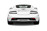 Straight rear view of 2016 Astonmartin DB9 Base 2 Door Coupe stock images
