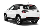 Car pictures of rear three quarter view of a 2018 Jeep Compass Limited 4WD 5 Door SUV angular rear