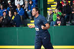 EUGENE, OR - JUNE 09: Filip Mihaljevic of the University of Virginia celebrates after winning the discus during the Division I Men's Outdoor Track & Field Championship held at Hayward Field on June 9, 2017 in Eugene, Oregon. (Photo by Jamie Schwaberow/NCAA Photos via Getty Images)