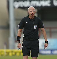 Match Official Darren Drysdale during the Sky Bet League 2 match between Morecambe and Wycombe Wanderers at the Globe Arena, Morecambe, England on 29 April 2017. Photo by Stephen Gaunt / PRiME Media Images.