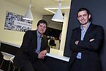 Paramount Office Opening..L-R: Andrew Roberts & Gareth Rees Jones..18.12.12.©Steve Pope