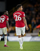 Mason Greenwood of Man Utd during the Premier League match between Wolverhampton Wanderers and Manchester United at Molineux, Wolverhampton, England on 19 August 2019. Photo by Andy Rowland.