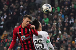 01.12.2019, Borussia Park , Moenchengladbach, GER, 1. FBL,  Borussia Moenchengladbach vs. SC Freiburg,<br />  <br /> DFL regulations prohibit any use of photographs as image sequences and/or quasi-video<br /> <br /> im Bild / picture shows: <br /> Kopfballduell zwischen  Ramy Bensebaini (Gladbach #25),  JANIK HABERER (Freiburg #19), <br /> <br /> Foto © nordphoto / Meuter