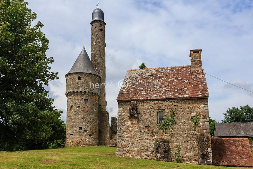 France, Orne (61),  Juvigny-sous-Andaine, tour de Bonvouloir // France, Orne,  Juvigny sous Andaine, Bonvouloir Tower