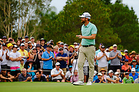 Nick Flanagan (AUS) on the 18th green during round 4 of the Australian PGA Championship at  RACV Royal Pines Resort, Gold Coast, Queensland, Australia. 22/12/2019.<br /> Picture TJ Caffrey / Golffile.ie<br /> <br /> All photo usage must carry mandatory copyright credit (© Golffile   TJ Caffrey)