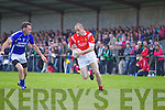 John Sheehan Laune Rangers v Michael O'Donoghue East Kerry in the first round of the Garveys Supervalu Kerry county football championship at Beaufort on Saturday evening.