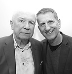 Terrence McNally and Tom Kirdahy during The DGF's 14th Biannual Madge Evans & Sidney Kingsley Awards at the Dramatists Guild Fund headquarters on April 4, 2016 in New York City.