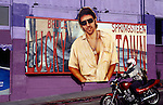 Bruce Springsteen billboard for Lucky Town on the side of the Whisky A Go Go nightclub on the Sunset Strip in Los Angeles, CA circa 1992