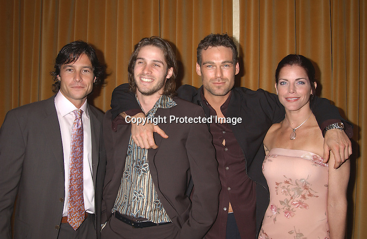 Mark Collier, Agim Baga & Grayson Mccouch &  .Lesli Kay  at the 30th Annual Creative Craft Daytime EmmyAwards on May 10,2003 at the Marriott Marquis in NYC..Photo by Robin Platzer, Twin Images.