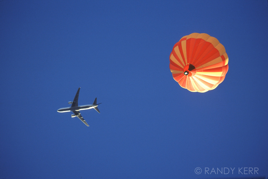 Jet and balloon