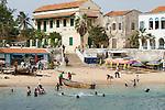 Africa, Afrika, Senegal, 17-09-2011, Dakar, Dakkar, Voor de kust van Dakar ligt het voormalige slaveneiland Isle de Goré. ( Goeree, uit het Nederlands) Tijdens de slavenhandel geregeerd door Nederlanders, en later over genomen door de Fransen.. Ook dit eiland staat op de UNESCO wereld erfgoed lijst.. foto: michael Kooren/HH