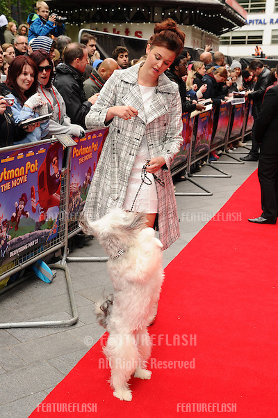 "Ashleigh and Pudsey arrives for the ""Postman Pat"" premiere at the Odeon West End, Leicester Square, London. 11/05/2014 Picture by: Steve Vas / Featureflash"