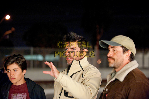 Director CHRIS WEITZ discusses a scene with stars DEMIAN BICHIR (right) and JOSE JULIAN (left).on the set of A Better Life.*Filmstill - Editorial Use Only*.CAP/FB.Supplied by Capital Pictures.