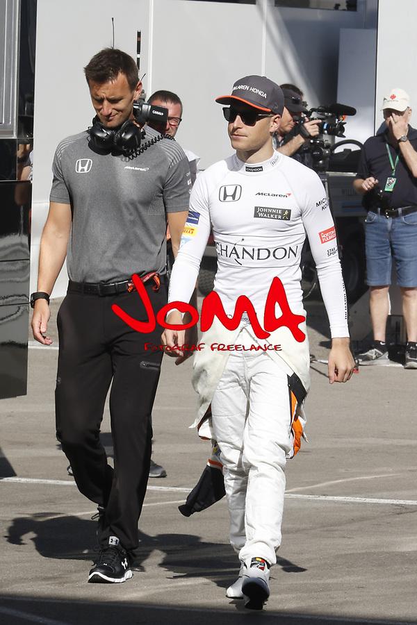 Stoffel Vandoorne  at Spanish Grand Prix . Barcelona-Catalunya track