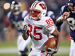 November 21, 2009: Wisconsin Badgers wide receiver David Gilreath (85) returns a punt for a touchdown during an NCAA football game against the Northwestern Wildcats at  Ryan Field on November 21, 2009 in Evanston, Illinois. The Wildcats won 33-31. (Photo by David Stluka)