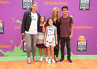 LOS ANGELES, CA July 13- Abby Wambach, Glennon Doyle Melton, Tish Melton, At Nickelodeon Kids' Choice Sports Awards 2017 at The Pauley Pavilion, California on July 13, 2017. Credit: Faye Sadou/MediaPunch