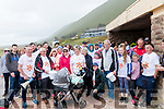 At Rossbeigh Beach on Sunday some of the participants in the 2019 First Light Mile in Memory walk.