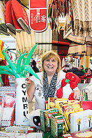 STORY BY STEVEN MORRIS SWANSEA, UK. 5th July 2015. Ann O'Sullivan from Pethau Cymreig in Swansea Market.