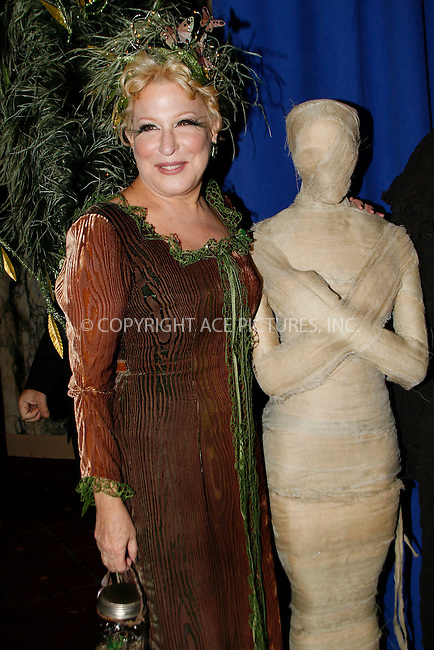 WWW.ACEPIXS.COM . . . . .  ....October 29 2010, New York City....Actress Bette Midler at the 15th annual Bette Midler's New York Restoration Project's Hulaween at The Waldorf Astoria on October 29, 2010 in New York City.....Please byline: NANCY RIVERA- ACEPIXS.COM.... *** ***..Ace Pictures, Inc:  ..Tel: 646 769 0430..e-mail: info@acepixs.com..web: http://www.acepixs.com