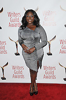 www.acepixs.com<br /> February 19, 2017  New York City<br /> <br /> Danielle Brooks attending the 69th Writers Guild Awards New York Ceremony at Edison Ballroom on February 19, 2017 in New York City.<br /> <br /> Credit: Kristin Callahan/ACE Pictures<br /> <br /> <br /> Tel: 646 769 0430<br /> Email: info@acepixs.com