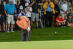 CROMWELL, CT. 20 June 2019-062019 - PGA Tour player Marc Leishman chips up onto the fourth green, during the first round of the Travelers Championship at TPC River Highlands in Cromwell on Thursday. Bill Shettle Republican-American