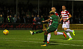 8th September 2017, SuperSeal Stadium, Hamilton, Scotland; Scottish Premier League football, Hamilton versus Celtic; Celtic's Scott Sinclair shoots and scores to make it 2-0 in the 29th minute