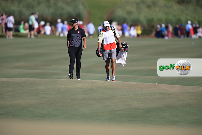 Adam Scott (AUS) and Caddy Steve Williams during round 3 of the Players, TPC Sawgrass, Championship Way, Ponte Vedra Beach, FL 32082, USA. 14/05/2016.<br /> Picture: Golffile | Fran Caffrey<br /> <br /> <br /> All photo usage must carry mandatory copyright credit (&copy; Golffile | Fran Caffrey)