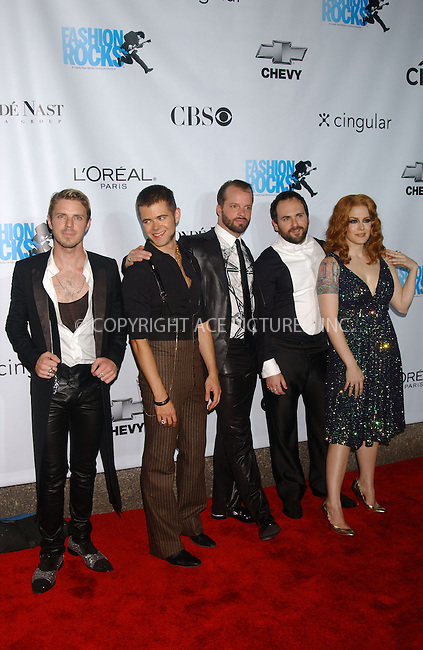 WWW.ACEPIXS.COM . . . . . ....September 7, 2006, New York City. ....The Scissor Sisters arrive at the 3rd Annual Fashion Rocks Concert held at Radio City Music Hall. ....Please byline: KRISTIN CALLAHAN - ACEPIXS.COM.. . . . . . ..Ace Pictures, Inc:  ..(212) 243-8787 or (646) 769 0430..e-mail: info@acepixs.com..web: http://www.acepixs.com
